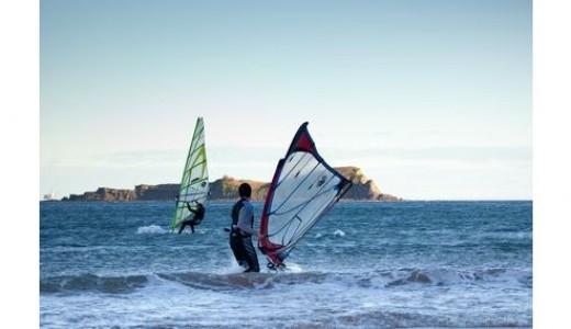 Windsurf en Laida