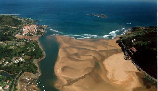 Vista aérea de la Ria de Mundaka